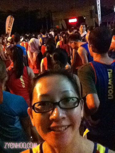 Selfie wth the start line :D