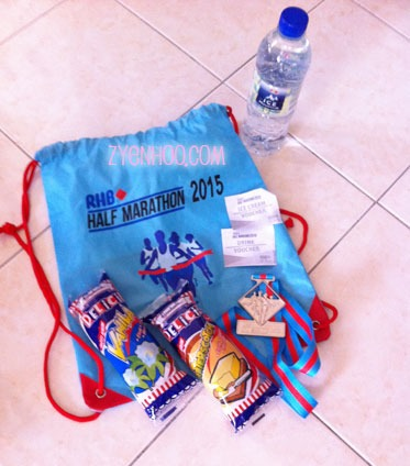 The goodie bag. I didn't use up the drink or ice-cream voucher as I went straight home after I finished.