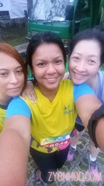 Adiah, Farah and I having a wefie before we started