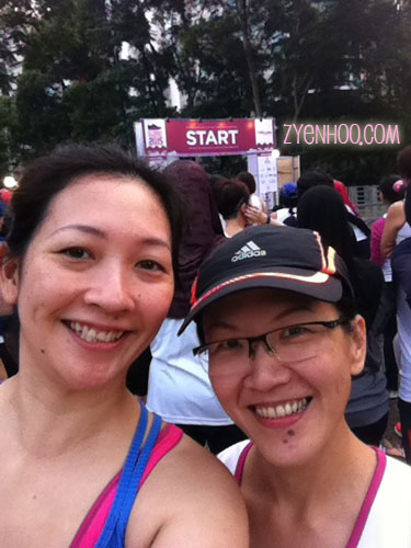 Me and Luan at the holding area in front of the Start Line