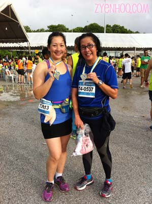 Marissa and I with our Finisher medals!