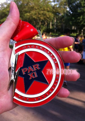 A close-up of our Finisher medal