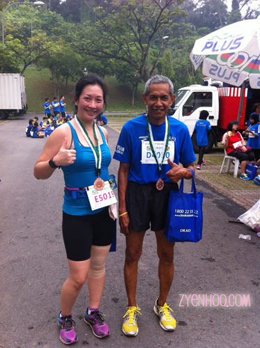 Me with Pakcik Sidek after the run