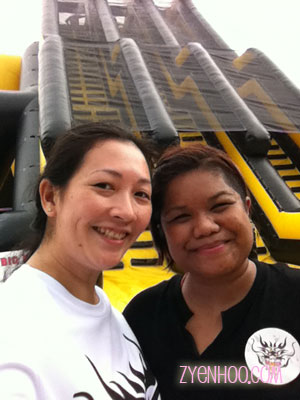 Elisha and I in front of the giant water slide