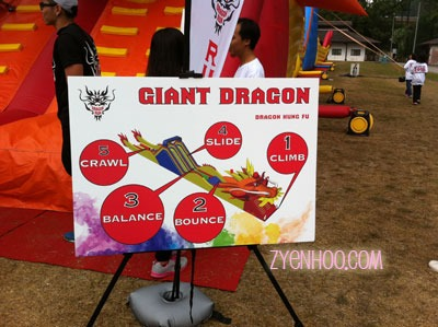 They don't call this a Giant Dragon for no reason! This is what you need to do to get across to the other side!