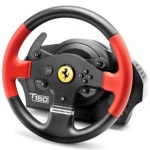 Thrustmaster T150 Ferrari Wheel Force Feedback Volante + Pedales PC,PlayStation 4,Playstation 3 USB Negro, Rojo