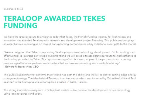 Teraloop-TEKES