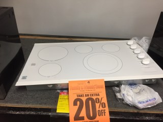 Sears warehouse countertop stove. $306. I bought this one.