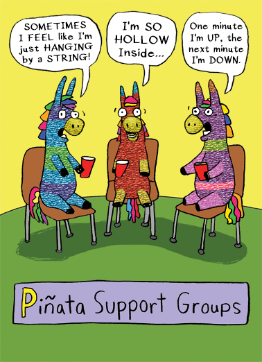 Funny Birthday Card Piata Support Groups From
