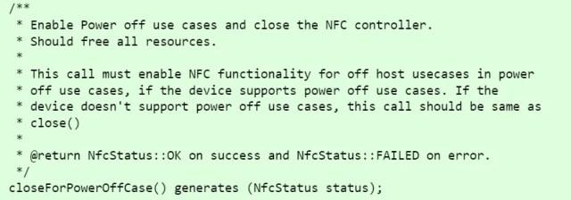 NFC Power Off