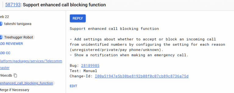Android-P-Call-Blocking-Feature-Commit call blocking