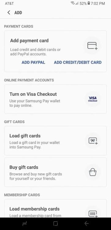 Samsung Pay PayPal Integration