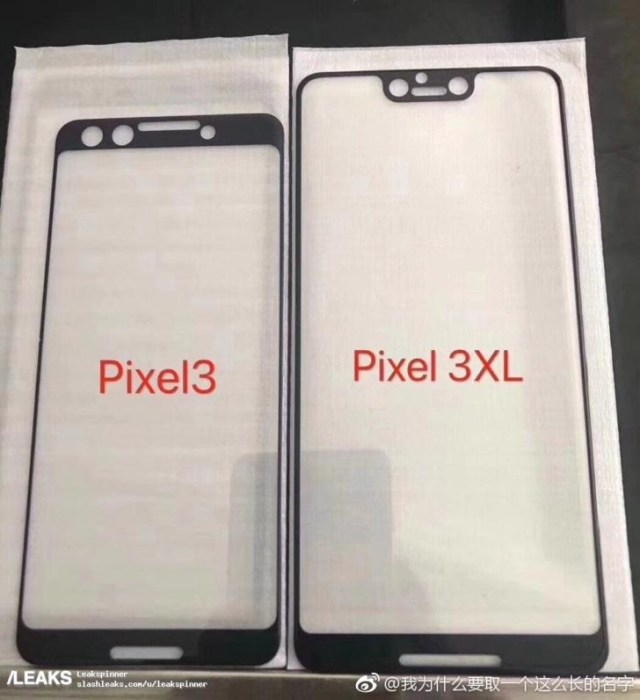 Pictures of possible Google Pixel 3 XL prototype with display notch