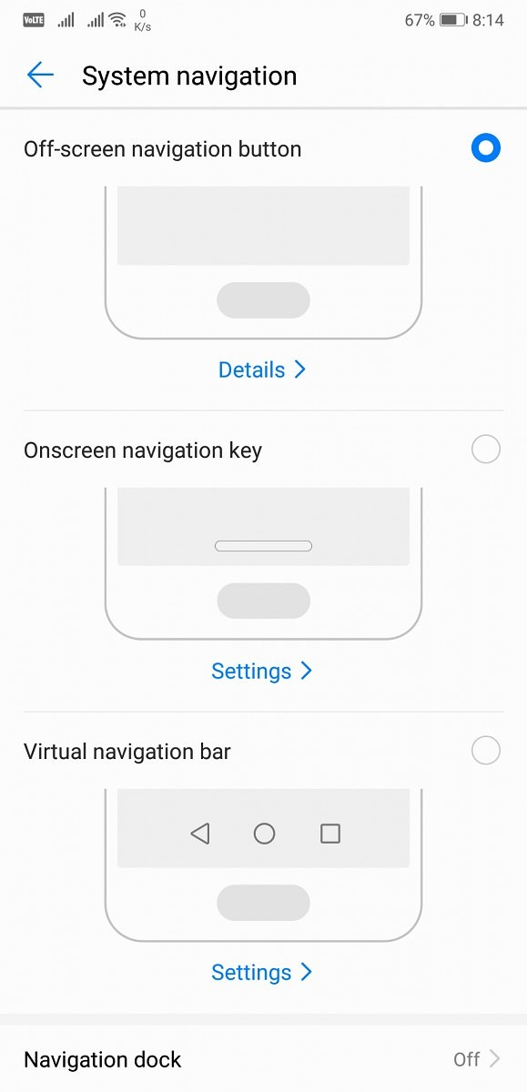 Huawei P20 Pro System Navigation
