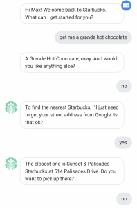 Starbucks Google Assistant
