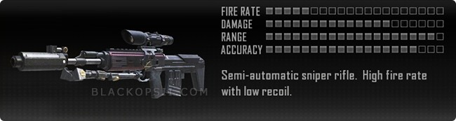 Call Of Duty Black Ops 2 II Weapons List Sniper Rifles