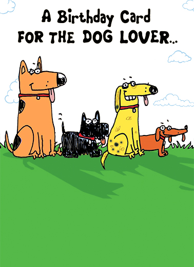 Funny Birthday Card Dog Lover From