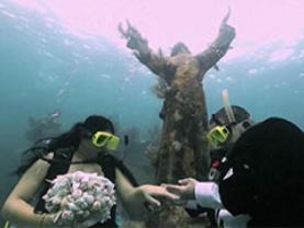 Wedding at Florida Keys Reefs Christ of the Abyss