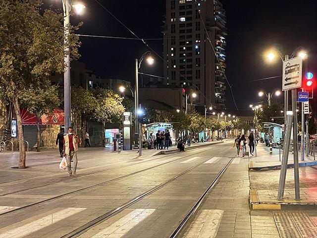 Jaffa Street in Jerusalem During Israeli Lockdown