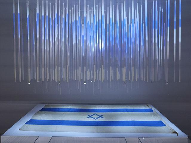 "Bible Lands Museum Jerusalem Exhibit, ""Out of the Blue,"" Photo, CBN News, Jonathan Goff"