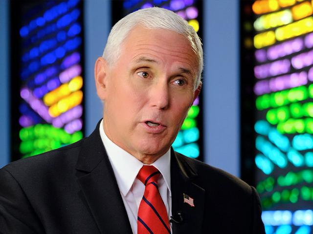 Vice President Mike Pence spoke with CBN News Chief Political Analyst David Brody (Photo: CBN News)