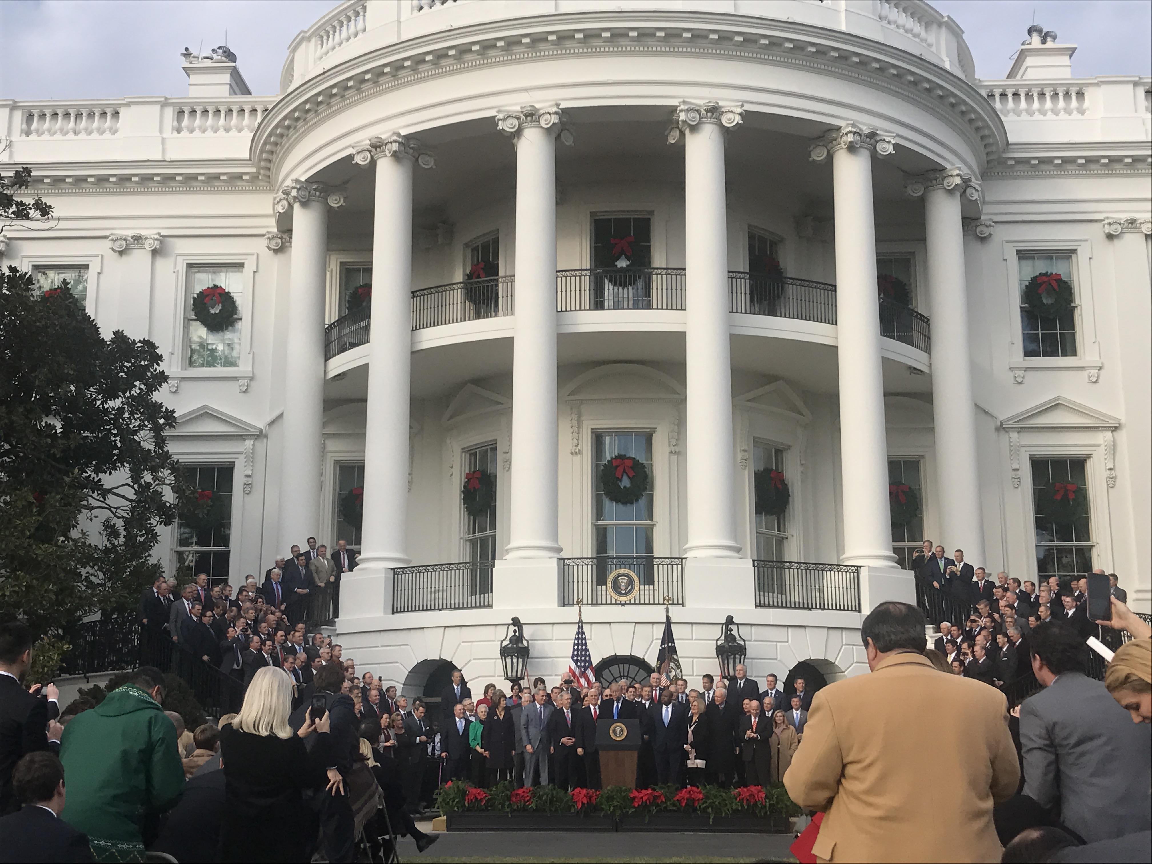 Trump, Senate Republicans Take Tax Reform Celebration to ...