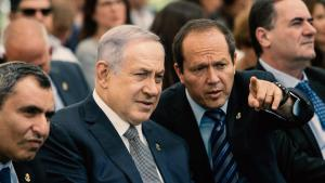 Israeli Prime Minister Benjamin Netanyahu and Jerusalem Mayor Nir Barkat, Photo, Associated Press