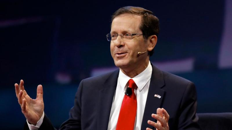 In this Monday, March 27, 2017, file photo, Isaac Herzog speaks at the AIPAC Policy Conference in Washington. (AP Photo/Manuel Balce Ceneta, File)