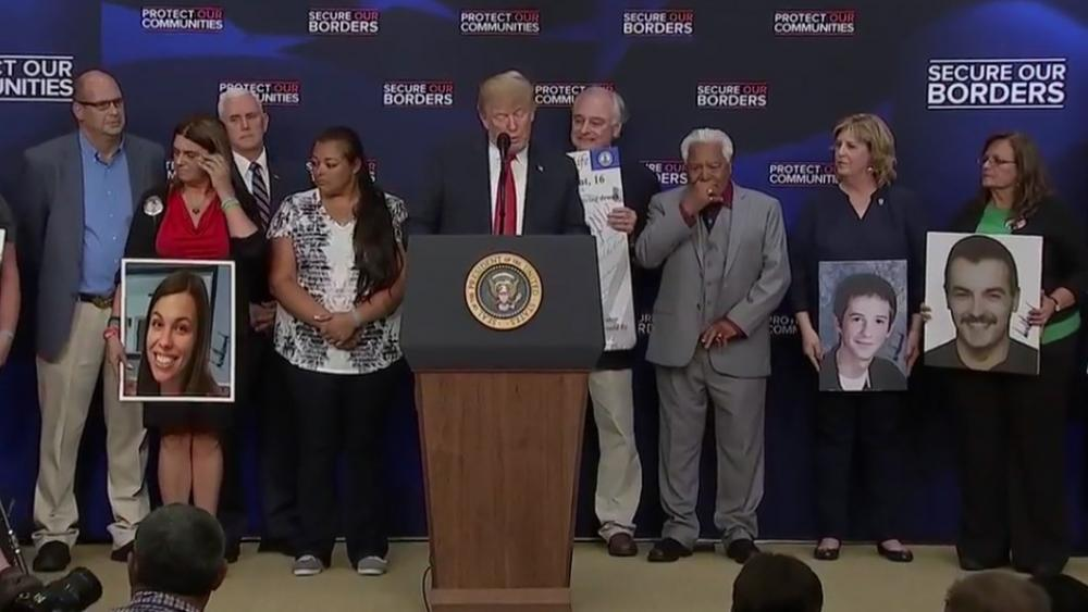 Hasil gambar untuk President Trump Gives Remarks on Immigration with Angel Families