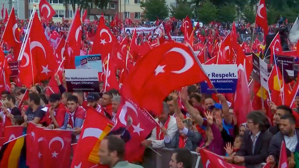 Image result for pictures of Erdogan supporters and Kurds fighting on the streets of Belgium