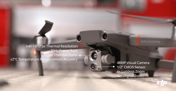 DJI Mavic 2 Enterprise Advanced specs thermal visual camera