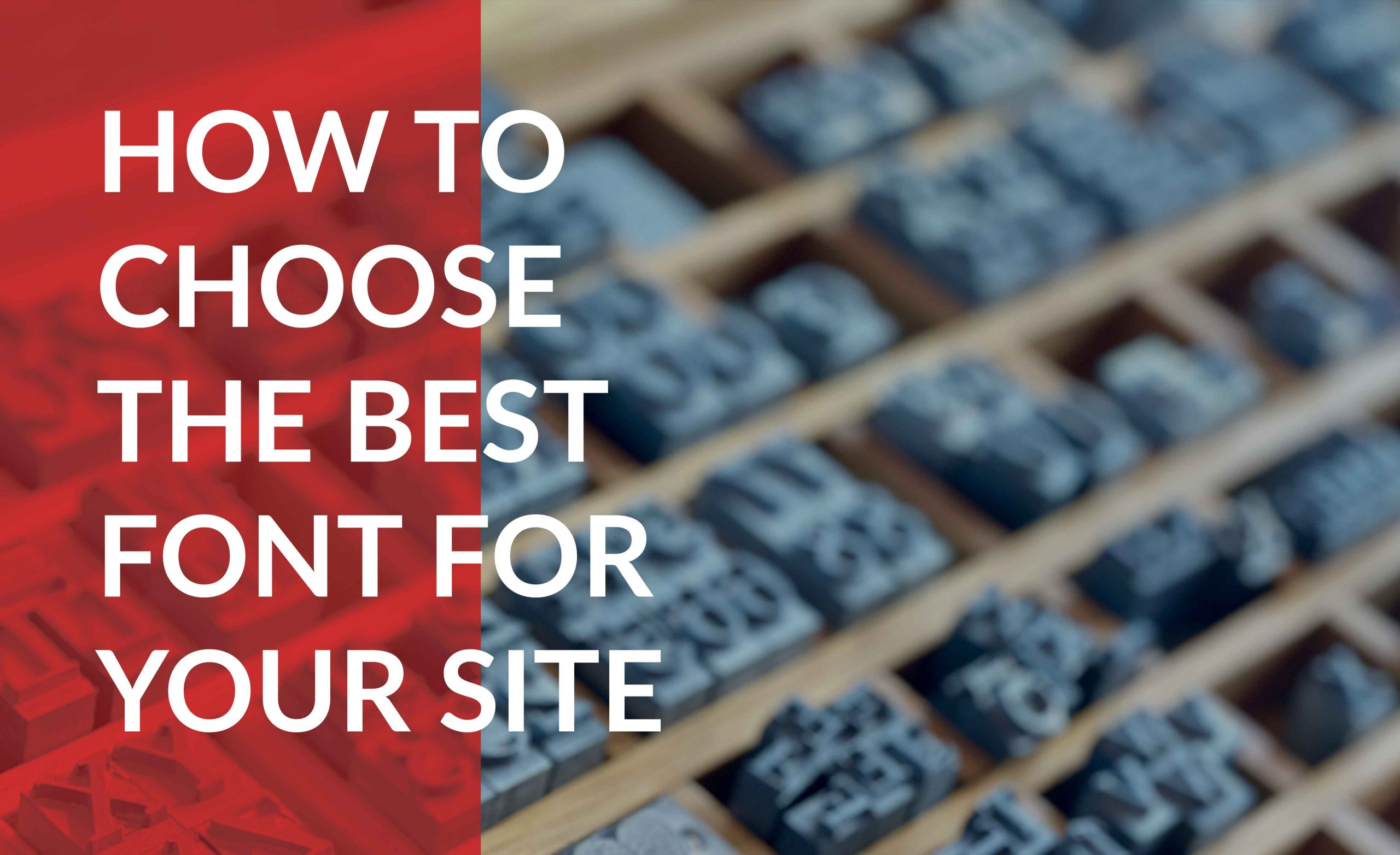 choosing the best font for your site