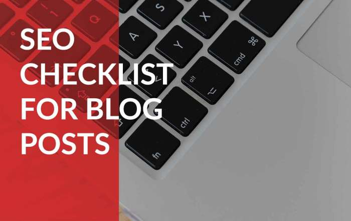 the complete seo checklist for blog posts