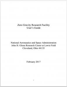Zero Gravity Research Facility   NASA Glenn Research Center