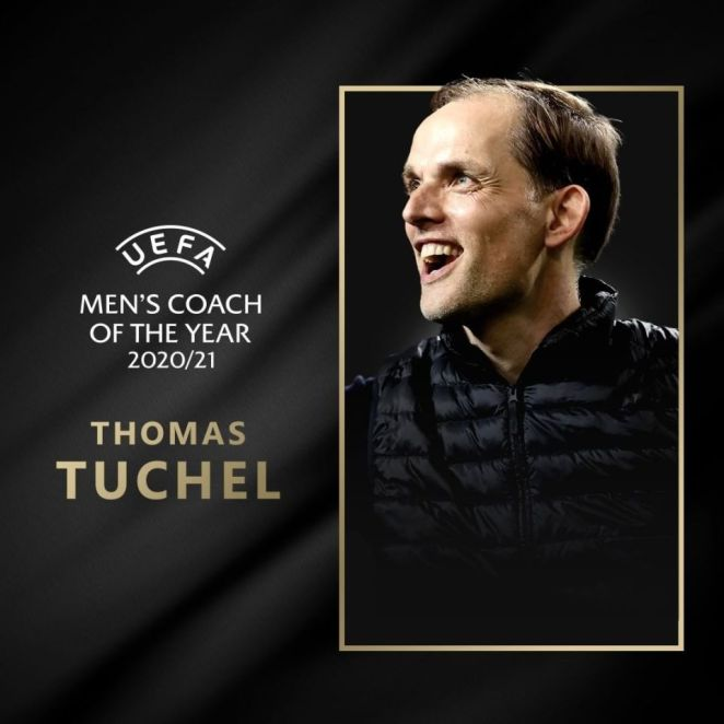 Chelsea Manager Thomas Tüchel Won The UEFA Men's Coach Of The Year Award For 2020-21