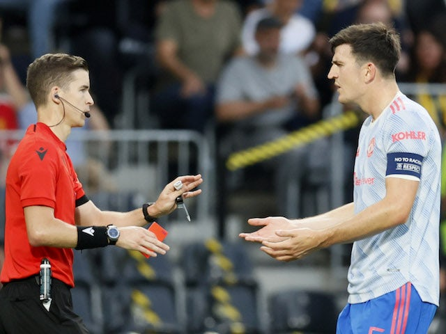 Harry Maguire Has Suggested That Aaron Wan-Bissaka Was Unfortunate To Be Sent Off