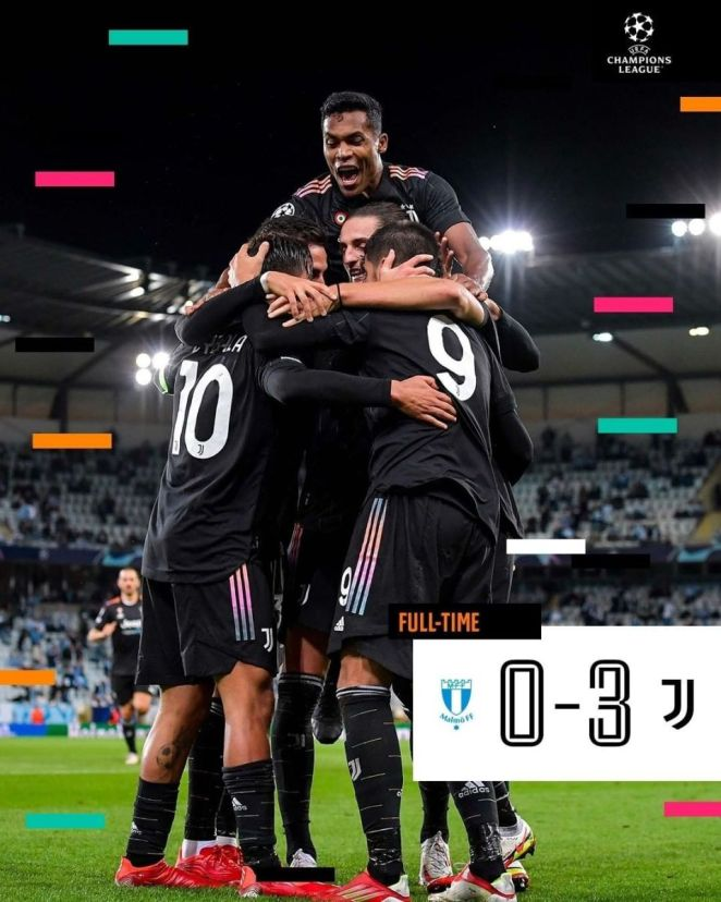 Juventus' 3-0 Win Over Malmo In The Champions League Saw The Bianconeri Register Their First Clean Sheet In All Competitions Since March