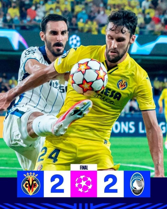 Villarreal Was Frustrated By Atalanta In Its Return To The Champions League After A 10-Year Absence