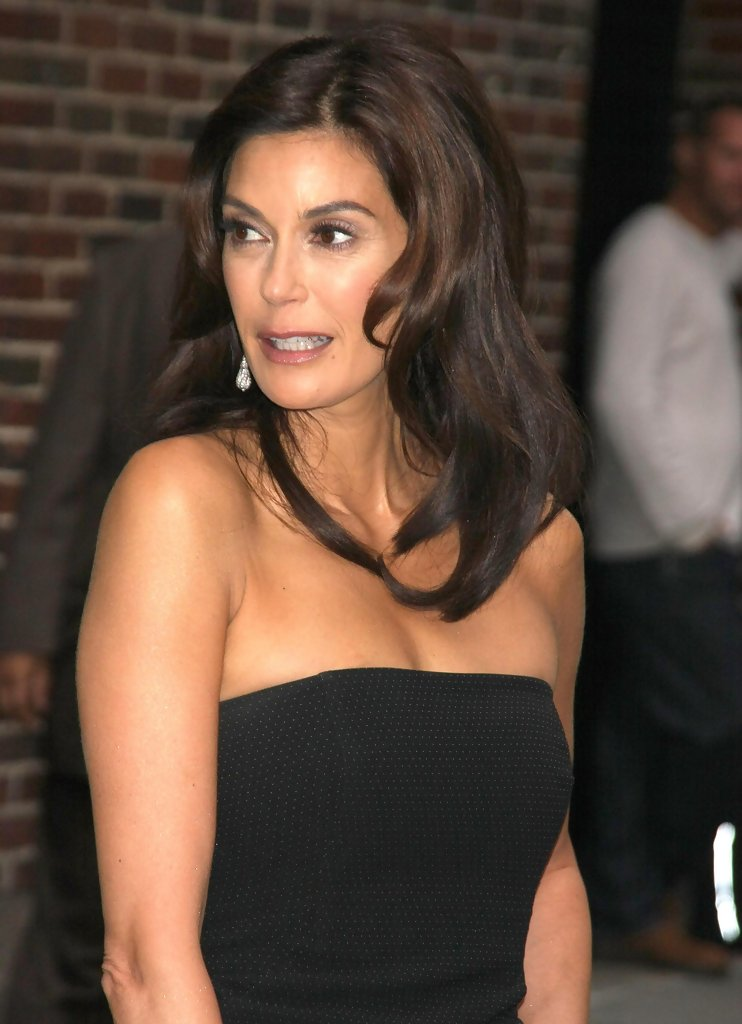 Teri Hatcher In Teri Hatcher At The Late Show With David