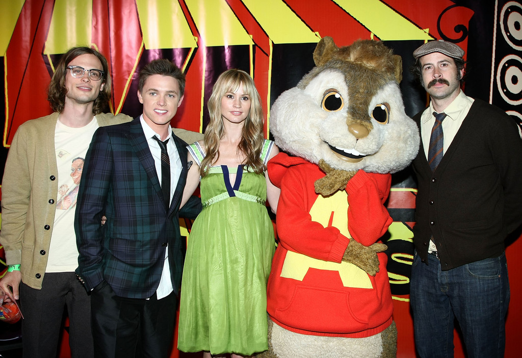 Matthew Gray Gubler Pictured With A Chipmunk Criminal
