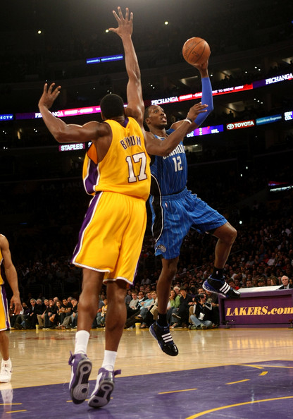 Andrew Bynum and Dwight Howard - Orlando Magic v Los Angeles Lakers