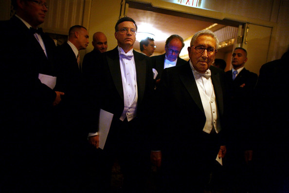 Henry Kissinger Former Secretary of State Henry Kissinger arrives at the 2008 Alfred E. Smith Dinner at the Waldorf Astoria Hotel October 16, 2008 in New York City. Appearing at the Alfred Smith dinner is a tradition for presidential candidates, with both major nominees usually attending during the election year.