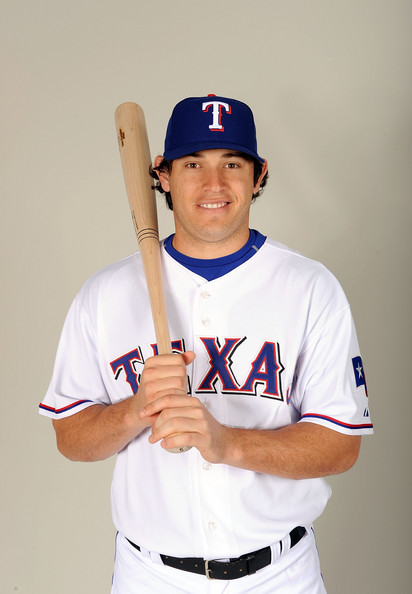Ian Kinsler #5 of the Texas Rangers poses during photo day at Surprise Stadium on February 24, 2009 in Surprise, Arizona.  (Photo by Harry How/Getty Images) *** Local Caption *** Ian Kinsler