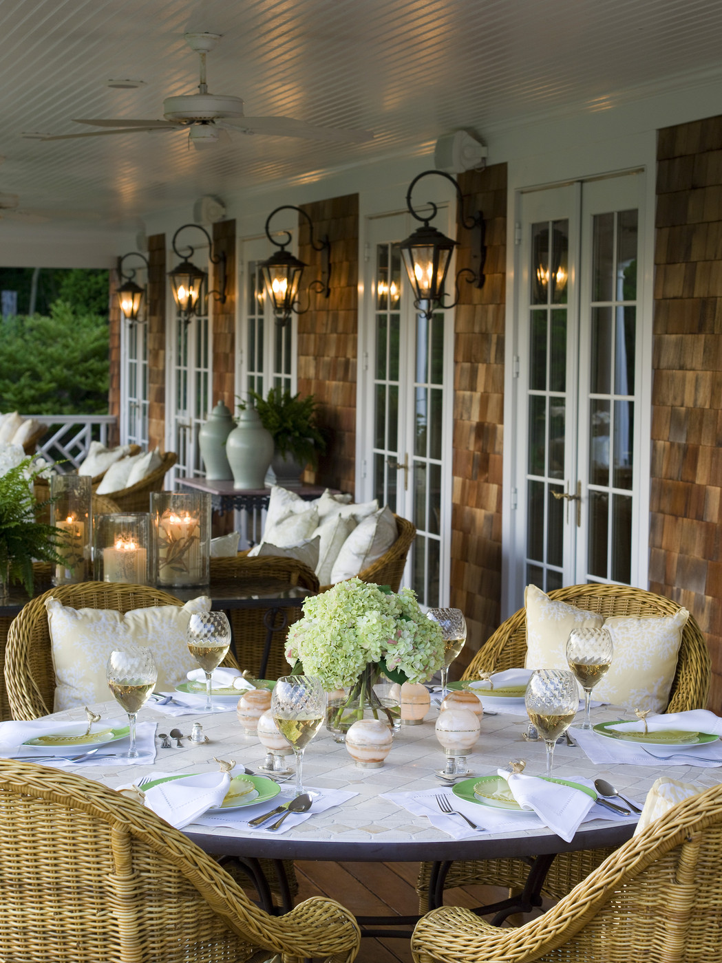 Brown Country Patio - Outdoor Patio Design Ideas - Lonny on Country Patio Ideas id=71319