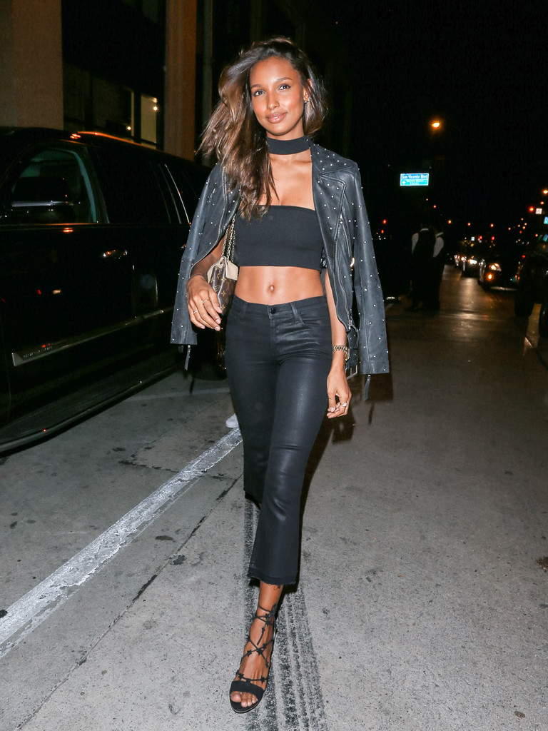 Jasmine Tookes Leather Jacket Jasmine Tookes Looks