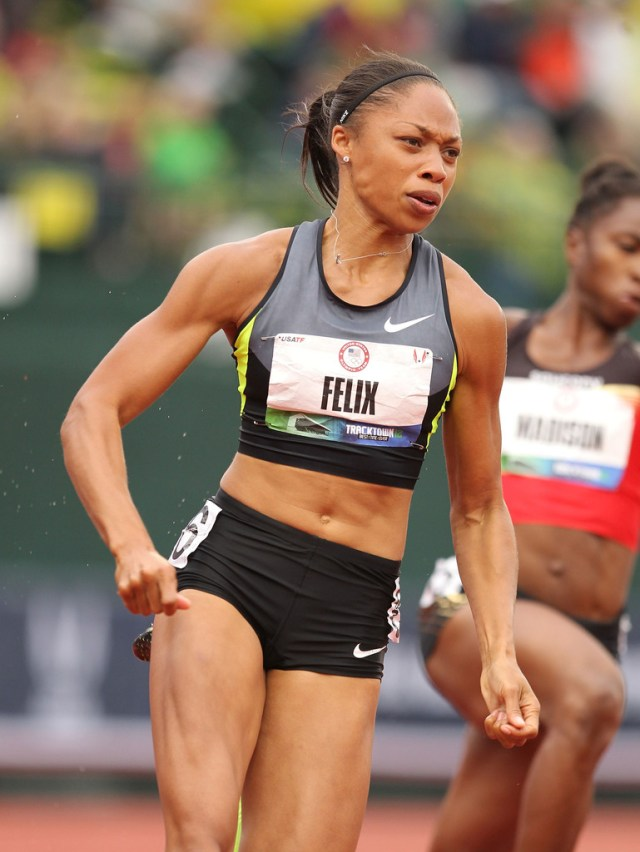 more pics of allyson felix ponytail (15 of 31) - long