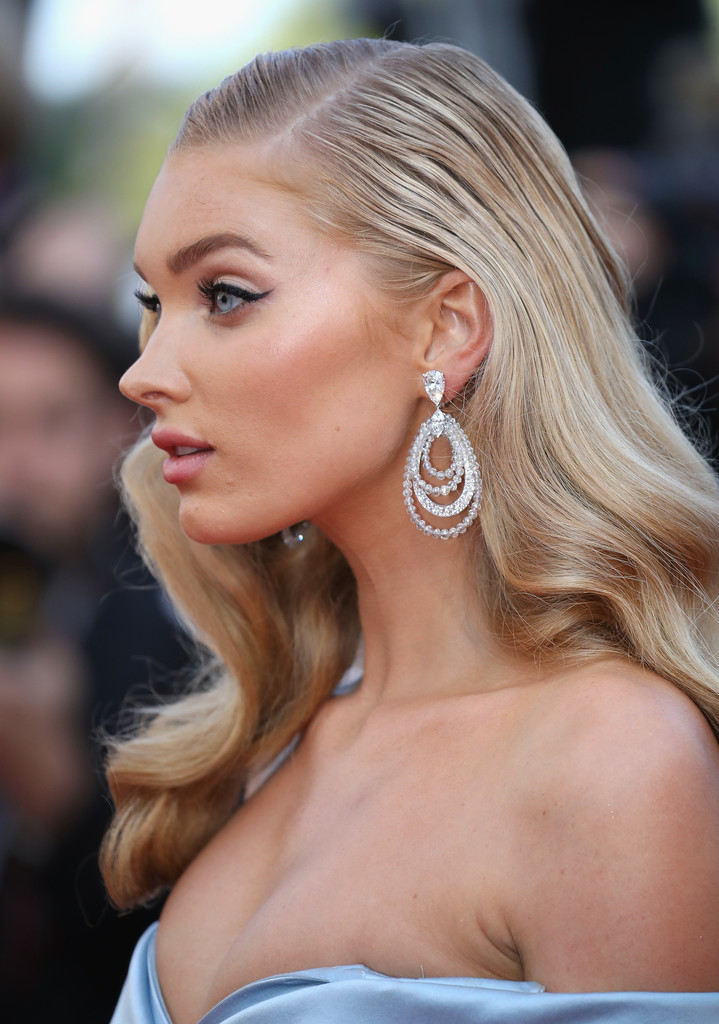 Elsa Hosk Diamond Chandelier Earrings Elsa Hosk Looks