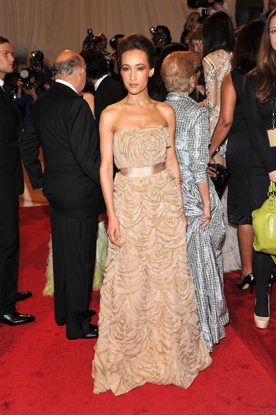 Maggie Q Strapless Dress