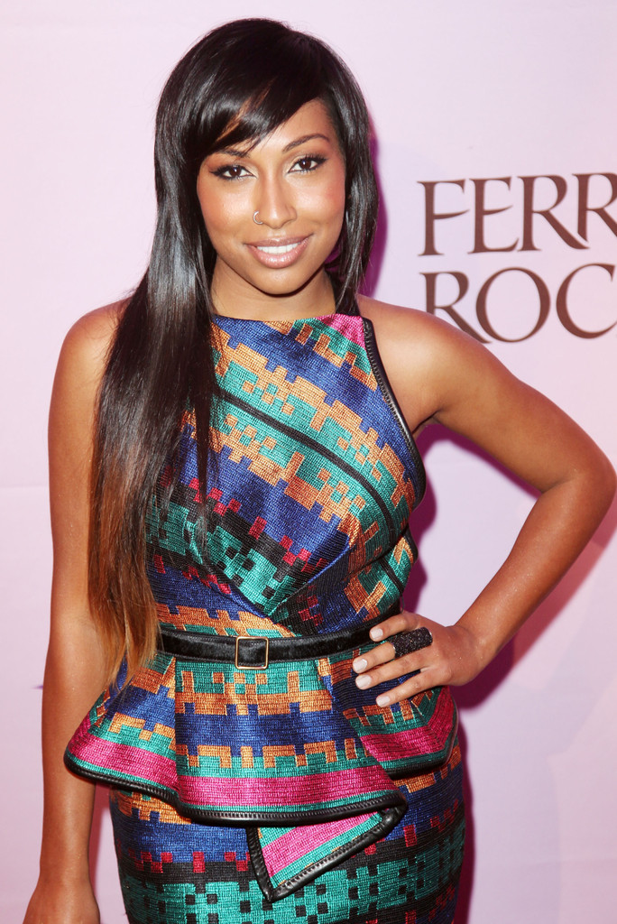 Melanie Fiona Long Straight Cut With Bangs Long Straight