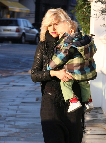 Gwen Stefani and her sons Kingston (born May 26, 2006) and Zuma (born August 21, 2008) bundle up for the cold winter weather as they leave their home.
